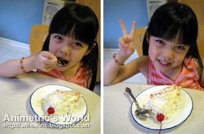 Keirra and the Red Ribbon White Forest Cake