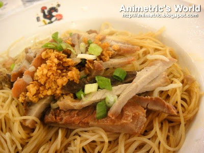 Oil Noodle with Barbecued Pork at Macau Restaurant in Macau, China
