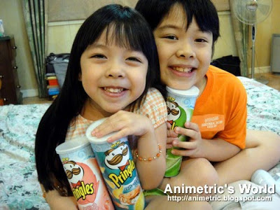 Kids love Pringles Seaweed, Soft-Shell Crab, and Grilled Shrimp flavors!