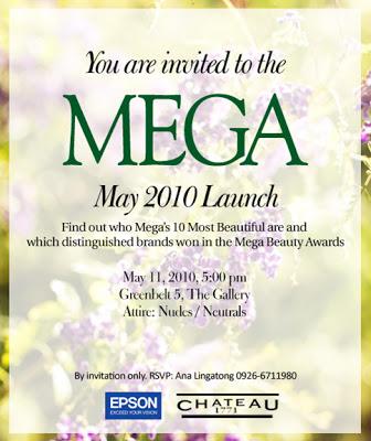 Mega Magazine May 2010 Launch invitation