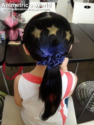 Hair done at the kiddie salon
