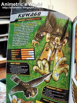 Kuwago in Foldabots Toy Book 3