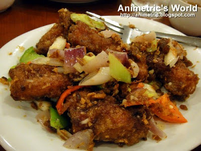 Fried Spareribs in Special XO Sauce at Lutong Macau