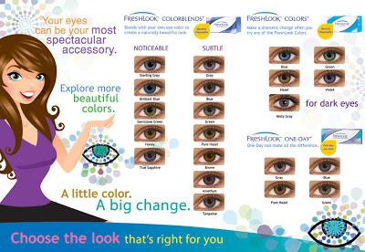 Freshlook Contact Lens Chart