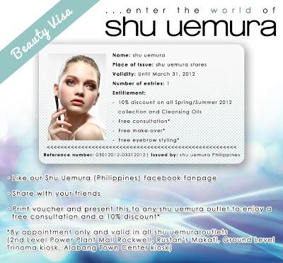 Shu Uemura Beauty Visa