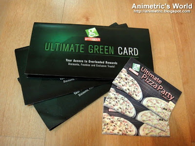 Greenwich Ultimate Green Card and Greenwich Ultimate Pizza Party Card