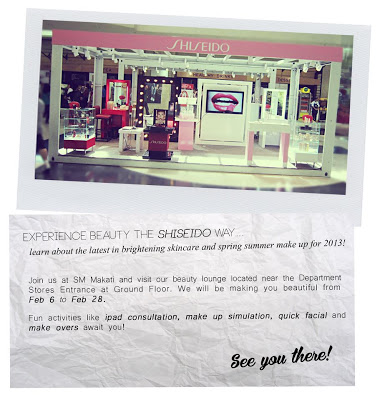 Shiseido Beauty Lounge at SM Makati