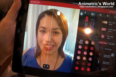 Shiseido iPad Makeup Consultation