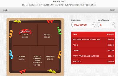 Red Ribbon Birthday Budget Planner