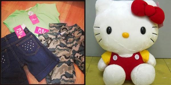 SM Kids Fashion GCs and Hello Kitty Plush Toy