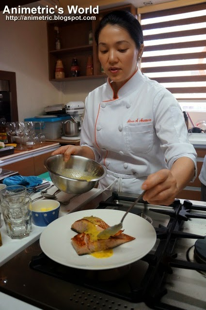 Chef Aileen Anastacio cooking lesson
