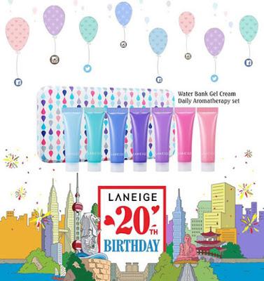 Laneige 20th Anniversary Water Bank Gel Cream Set