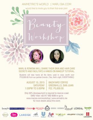 Animetric and Marj Sia Beauty Workshop