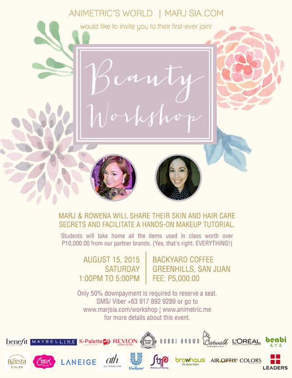 Marj and Ro Beauty Workshop