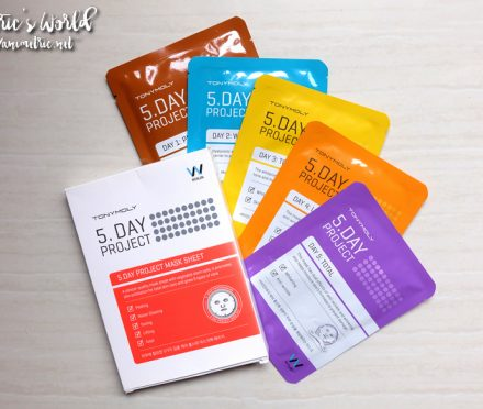 Tonymoly 5 Day Project Mask Sheet