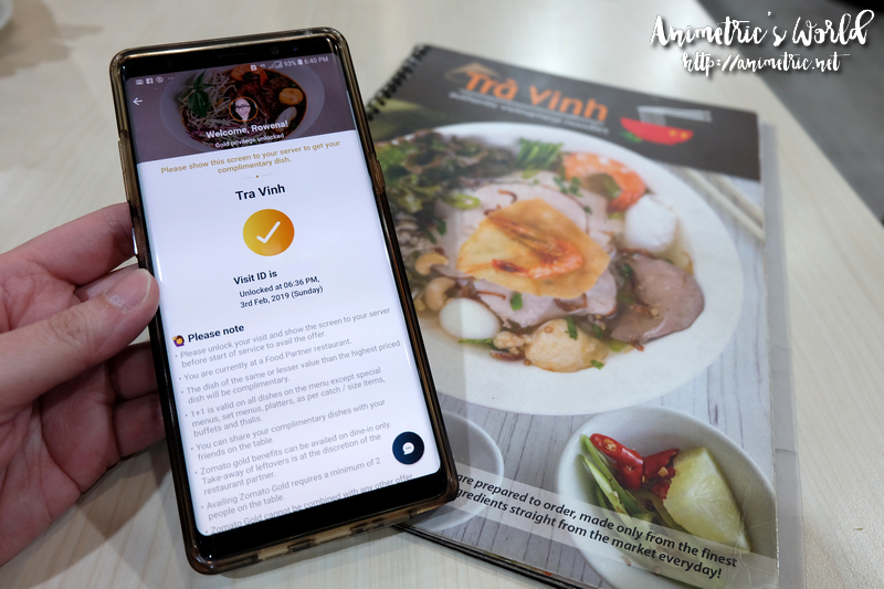 Zomato Gold at Travinh